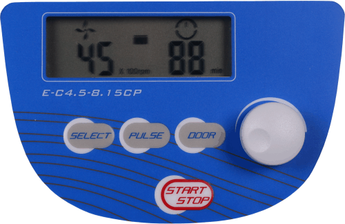 Eins-Sci E-C4.5-8.15CP Control Panel, RPM, RCF, Time